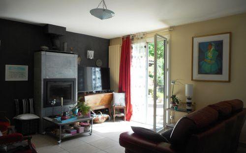 villa : sejour salon cheminee