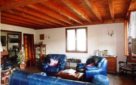Villa : sejour salon avec cheminee