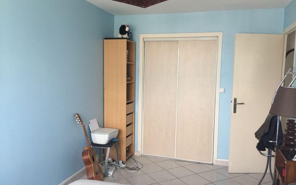 appartement   type 2 : chambre avec placard d'une surface de 17,19 m²