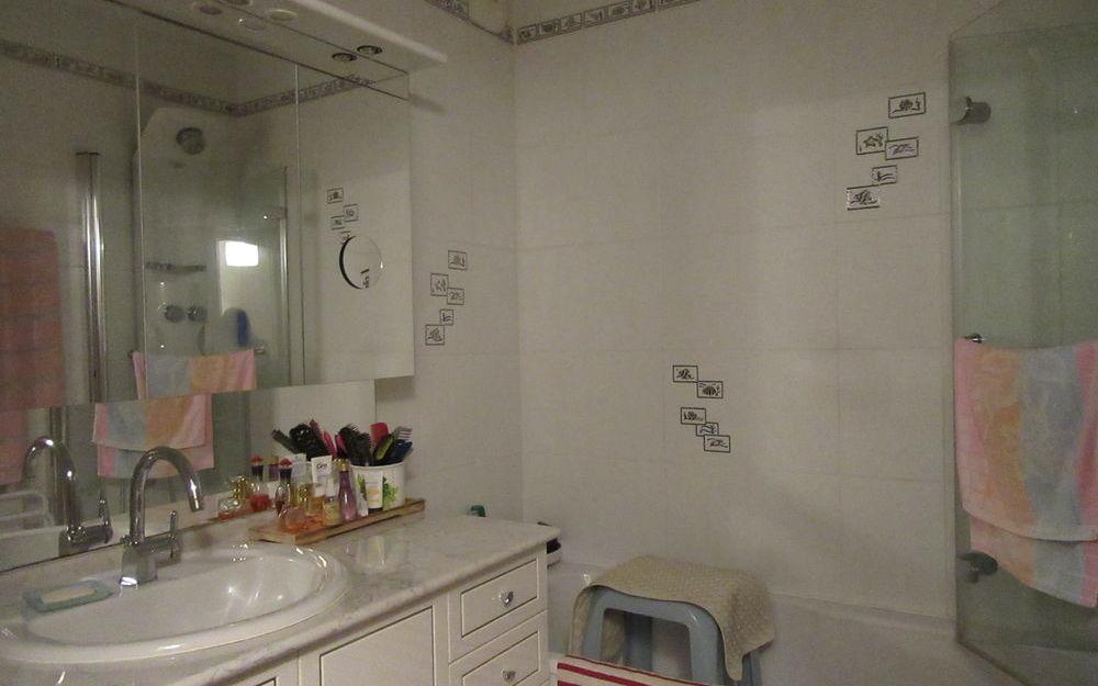 Appartement Rez de Jardin : salle de bains