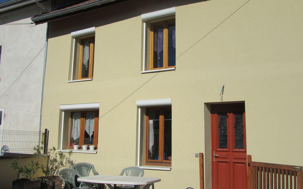 maison mitoyenne : cote facade